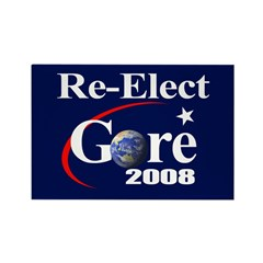 RE-ELECT GORE Rectangle Magnet