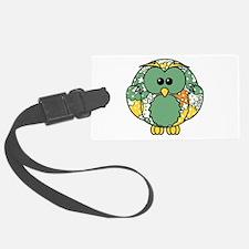 Retro Daisy Owl Luggage Tag