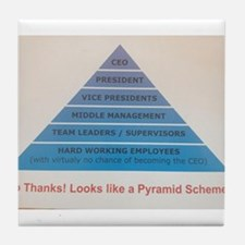 Pyramid Scheme Tile Coaster