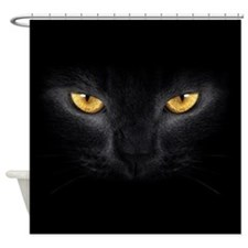 Black Cat Eyes Shower Curtain