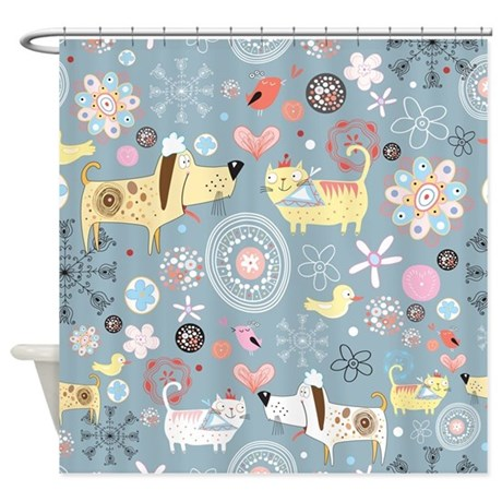 Dogs and Cats Shower Curtain