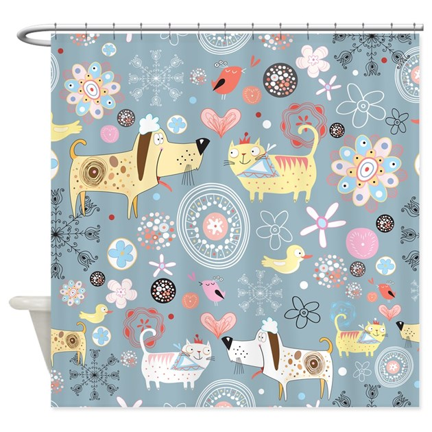 Curtains Ideas cat curtains kitchen : Cat Shower Curtains | Cat Fabric Shower Curtain Liner