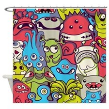 Monsters and Aliens Shower Curtain