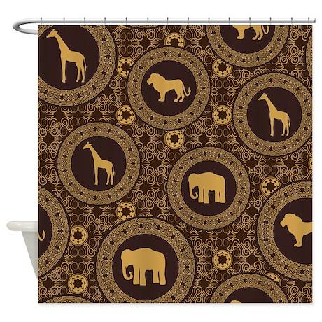 African Animals Shower Curtain