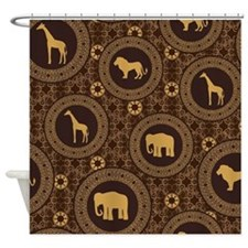 African Animals Shower Curtain