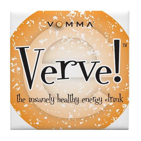 Verve Energy Drink Tile Coaster