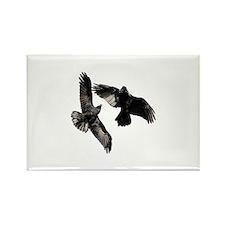Raven Dance Rectangle Magnet