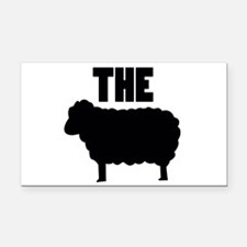 The Black Sheep Rectangle Car Magnet