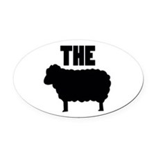 The Black Sheep Oval Car Magnet