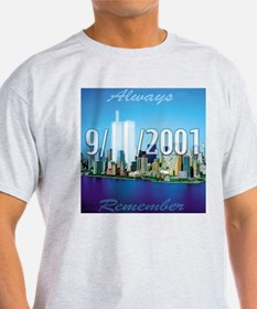 Always Remember 9/11 Ash Grey T-Shirt
