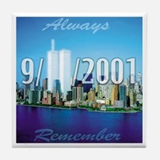 Always Remember 9/11 Tile Coaster
