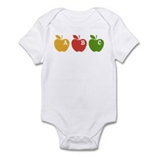 Apple ABC Back To School Infant Bodysuit