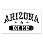 Arizona Est. 1912 Sticker (Rectangle)