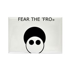 Fear the 'Fro Rectangle Magnet