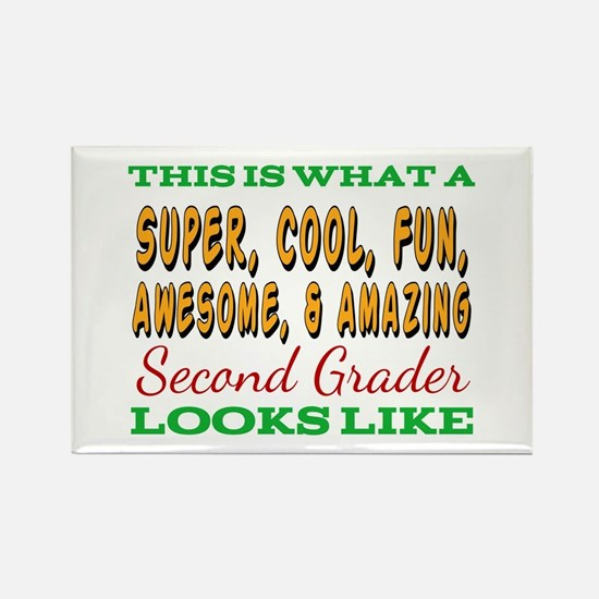 This Is What An Awesome Second Grader Look Magnets