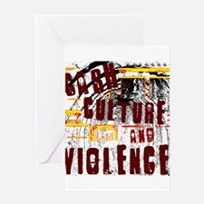 Cash Culture and Violence Greeting Card