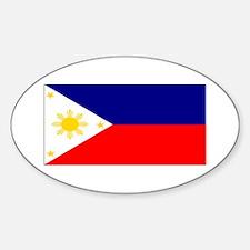 Filipino Pilipinas Blank Flag Oval Decal