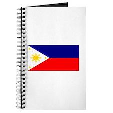 Filipino Pilipinas Blank Flag Journal