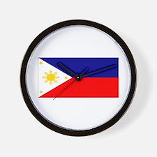 Filipino Pilipinas Blank Flag Wall Clock