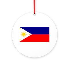 Filipino Pilipinas Blank Flag Christmas Ornament
