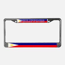 Filipino Pilipinas Blank Flag License Plate Frame