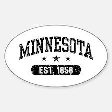 Minnesota Est. 1858 Sticker (Oval)