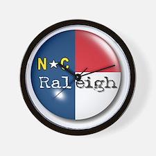 Raleigh North Carolina Flag Wall Clock