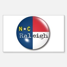 Raleigh North Carolina Flag Rectangle Decal