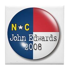 John Edwards President 2008 Tile Coaster