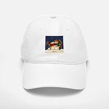 Snowman Love Baseball Baseball Cap