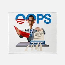 Obama at Work Throw Blanket