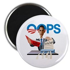 Obama at Work Magnet
