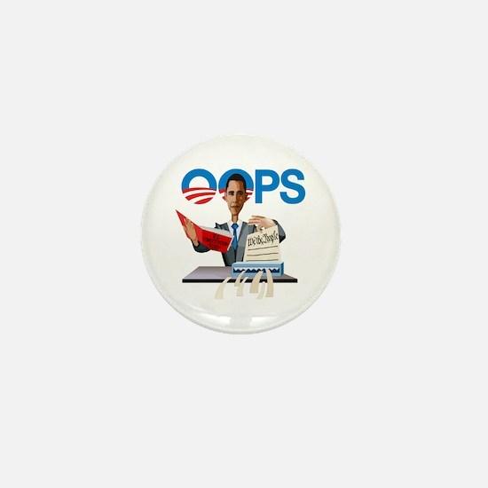 Obama at Work Mini Button