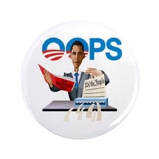 "Obama at Work 3.5"" Button"