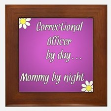 Correctional Officer by day Mommy by night Framed