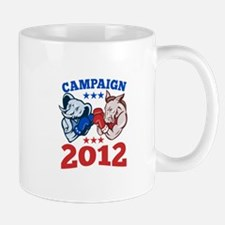 Democrat Donkey Republican Elephant Campaign 2012