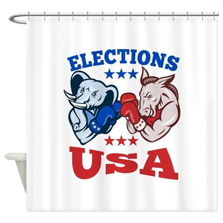 Democrat Donkey Republican Elephant Mascot USA Sho