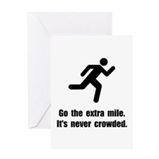Go The Extra Mile Greeting Card