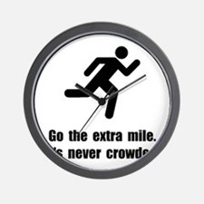 Go The Extra Mile Wall Clock