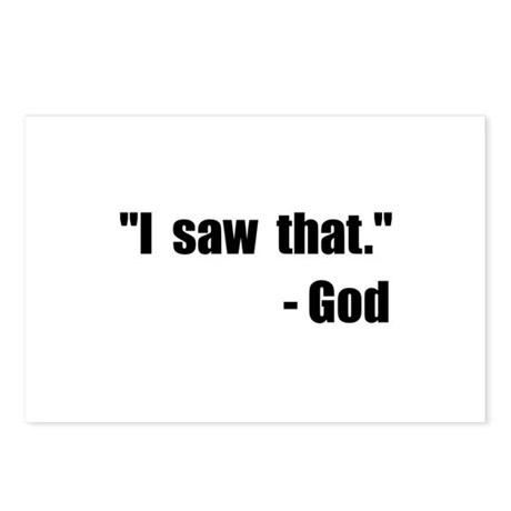 God Saw That Postcards (Package of 8)