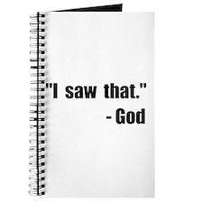 God Saw That Journal