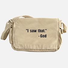 God Saw That Messenger Bag