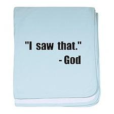 God Saw That baby blanket