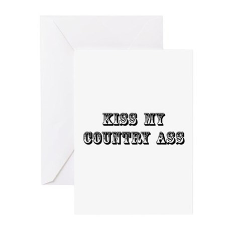 Kiss My Country Greeting Cards (Pk of 10)