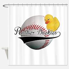 Rubber Duckies Jersey Shower Curtain