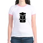 Xi Chinese Happiness Sign Jr. Ringer T-Shirt