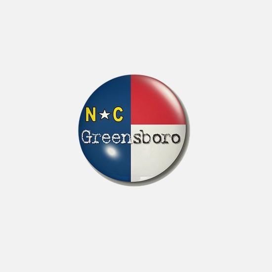 Greensboro North Carolina Flag Mini Button