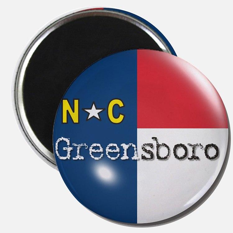 Greensboro North Carolina Flag Magnet