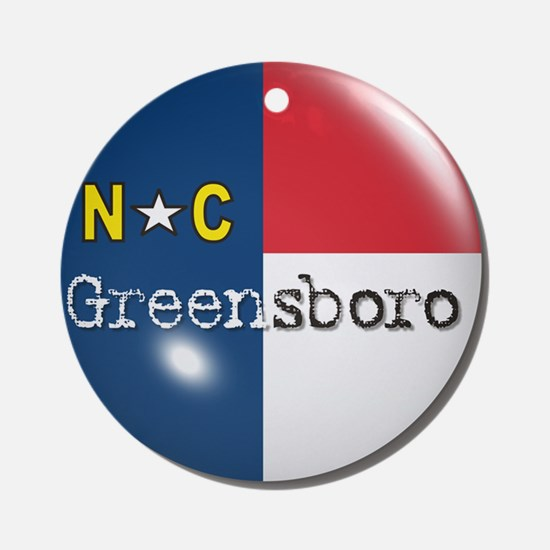 Greensboro North Carolina Flag Ornament (Round)