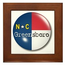 Greensboro North Carolina Flag Framed Tile